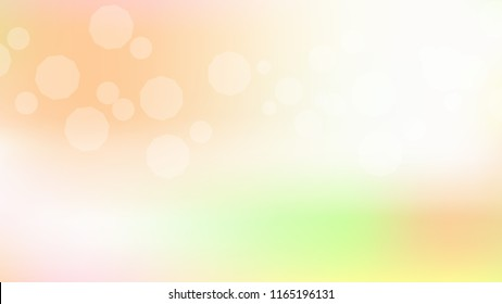 Spring pink peach gradient background. Light blurry gradient pattern.  Elegant peach colors. Soft colors. Blurred pink, peach bokeh background. Sunrise landscape. Colorful blurry gradient holography.