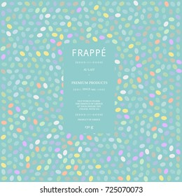 Spring polka dot placement print pattern background