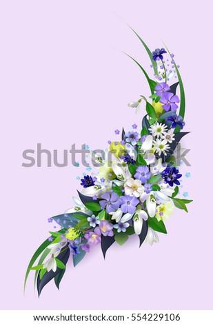 Spring Primroses Arrangement Flowers Design Greetingwedding