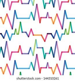 spring rhythm of heart seamless pattern