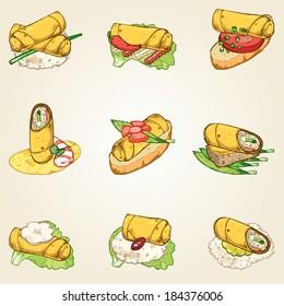 spring roll finger food set