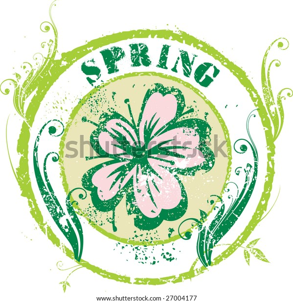 Spring rubber stamp