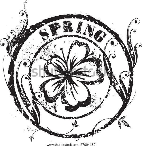 Spring rubber stamp