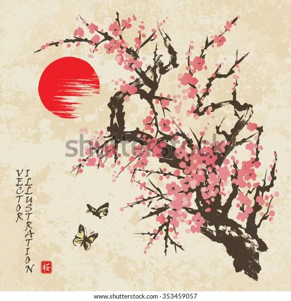 japanese cherry blossom art