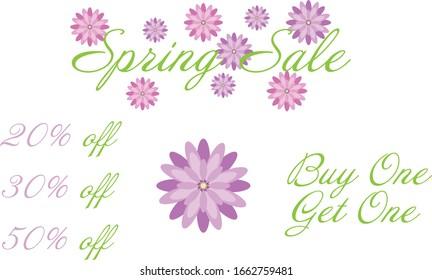 Spring sale floral pack merchants