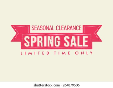 spring sale illustration