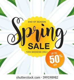Spring sale poster