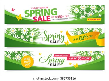 Spring sale template banners