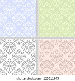 Spring seamless abstract damask pattern. Seamless pattern can be used for wallpaper, pattern fills, web page background,surface textures, wrapping paper, invitations. Floral textile background