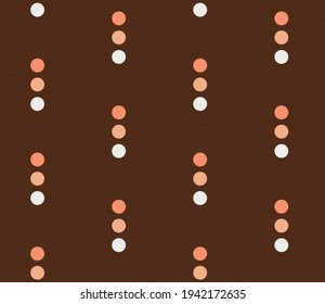 Spring seamless geometric pattern with mobile, wings, balls. Vector design for web banner, business presentation, brand package, fabric, print, wallpaper, postcard.