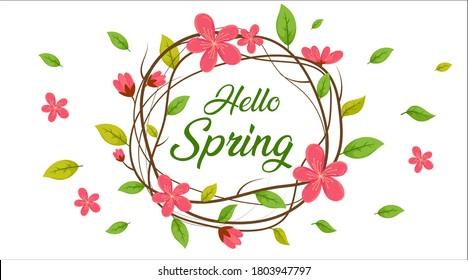 Spring Season Background, Hello Spring, Spring Sale Background, Spring Banner