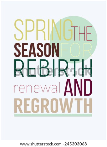 Spring Season Rebirth Renewal Regrowth Fresh Stock Vector Royalty