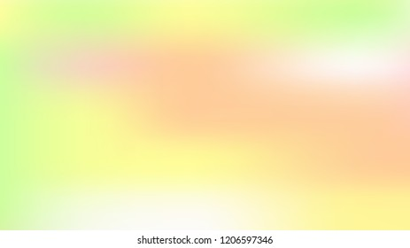 Spring soft easter background. Summer holographic green texture. Vibrant blur iridescent design. Foil neon trendy rainbow banner. Pastel future element. Foil holographic design. Bright soft gradient.