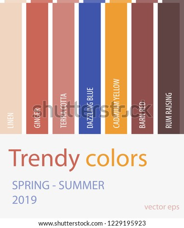 Spring Summer 2019 Color Trends Fashion Stock Vector Royalty Free