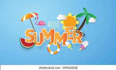 Spring Summer poster, banner  vector illustration and design for poster card,