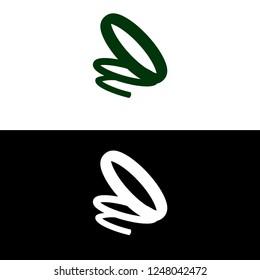 Spring symbol in action. Vector