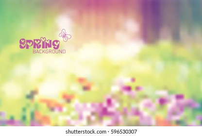 Spring time blurred backgrounds. Editabile gradient concept vector illustration for your design.
