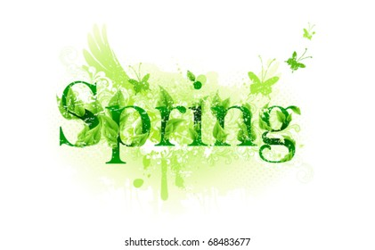 Spring time label