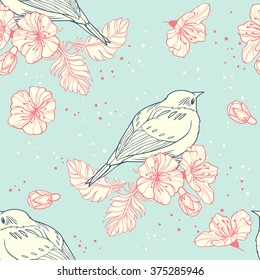 Spring time. seamless pattern