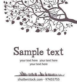 Spring tree design card