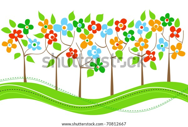 Png Clipart Clip Art Of A Spring Tree