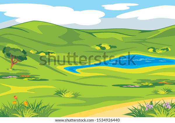 spring-valley-landscape-background-vecto