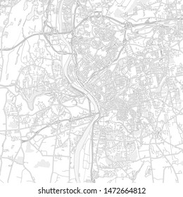 Springfield, Massachusetts, USA, bright outlined vector map with bigger and minor roads and steets created for infographic backgrounds.