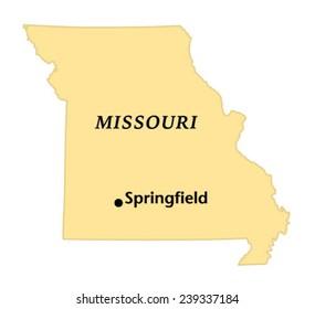 Springfield, Missouri locate map