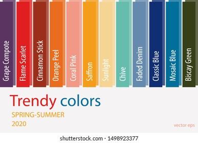 2020 Color Trends Fashion.Vectores Imagenes Y Arte Vectorial De Stock Sobre Seasonal