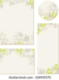 Spring-summer wedding templates (set 2)
