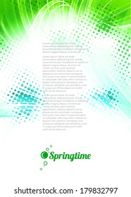 Springtime. Abstract artistic background. Vector