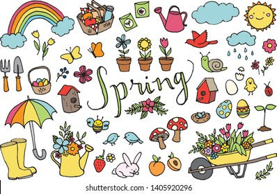 Spring Season Clipart High Res Stock Images   Shutterstock