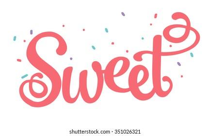 Sprinkled with sugar sweet fun logo type