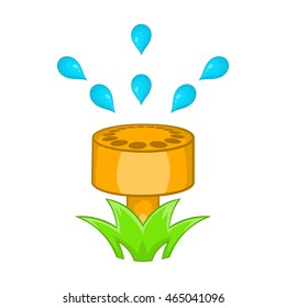 Sprinkler head icon. Cartoon illustration of sprinkler head vector icon isolated on white background
