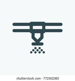 Sprinkler icon, fire alarm system sprinkler vector icon