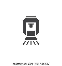 Sprinkler icon vector, filled flat sign, solid pictogram isolated on white. Fire extinguishing system symbol, logo illustration.