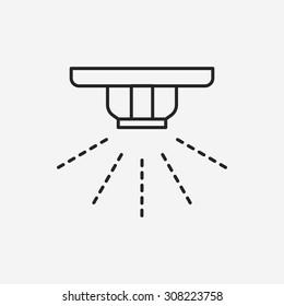 Sprinklers line icon
