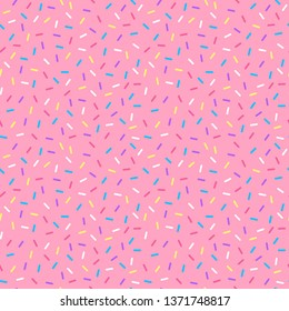 Sprinkles Seamless Pattern - Colorful sprinkles on solid background repeating pattern design