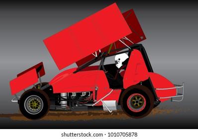 Sprint Car Vector 1