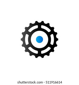 Sprocket icon in duo tone color.