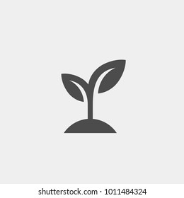 Sprout flat vector icon. Shoot flat vector icon. Seedling flat vector icon