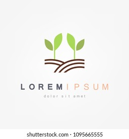Sprout grain icon. Eco icon. Vector ilustration