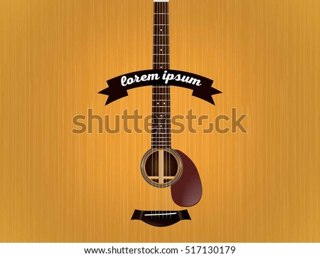 spruce acoustic guitar wallpaper stock vector royalty free