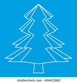 Spruce icon blue outline style isolated vector illustration. Thin line sign