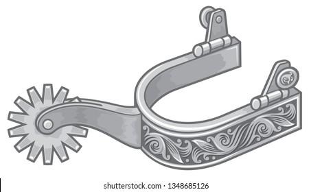spurs vector illustration