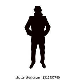 Spy agent  icon.  incognito icon. man with hat.  secret agent, hacker. Mysterious man icon