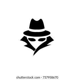 Spy, agent icon on white background