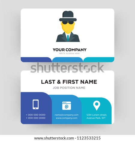Spy business card design template visiting stock vector royalty spy business card design template visiting for your company identity card vector illustration accmission Image collections