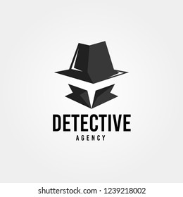 Spy detective design template. Criminal internet hacker logo. Investigation concept. Vector illustration