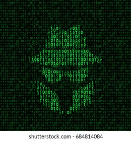 spy icon with binary code. vector illustration - eps 8